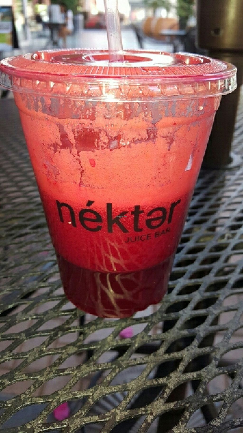 """Photo of Nekter Juice Bar  by <a href=""""/members/profile/VegManda"""">VegManda</a> <br/>Beet Juice  <br/> March 23, 2016  - <a href='/contact/abuse/image/71261/141083'>Report</a>"""