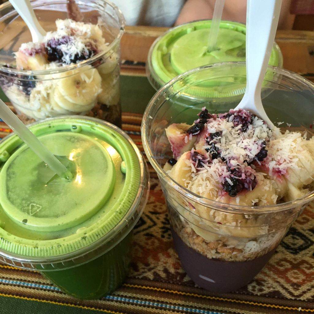 "Photo of Under the Mango Tree  by <a href=""/members/profile/lolacooks"">lolacooks</a> <br/>green juice and acai bowls <br/> August 16, 2016  - <a href='/contact/abuse/image/71262/169170'>Report</a>"