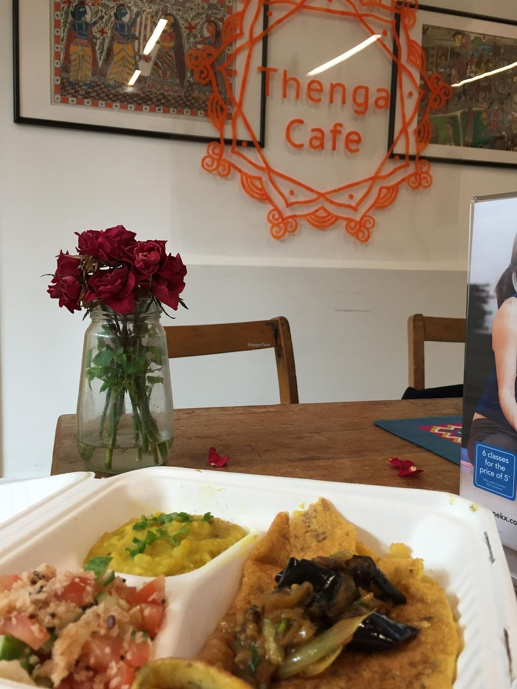 "Photo of Thenga Cafe  by <a href=""/members/profile/Jaxkarin"">Jaxkarin</a> <br/>Yummy dosa day at Thenga Cafe. Vegan and gluten free!  <br/> March 31, 2016  - <a href='/contact/abuse/image/71286/142016'>Report</a>"