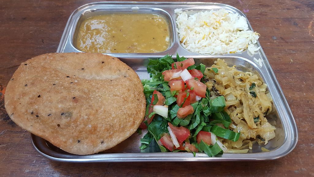 "Photo of Thenga Cafe  by <a href=""/members/profile/VeganAnnaS"">VeganAnnaS</a> <br/>Indian thali <br/> June 24, 2017  - <a href='/contact/abuse/image/71286/272988'>Report</a>"