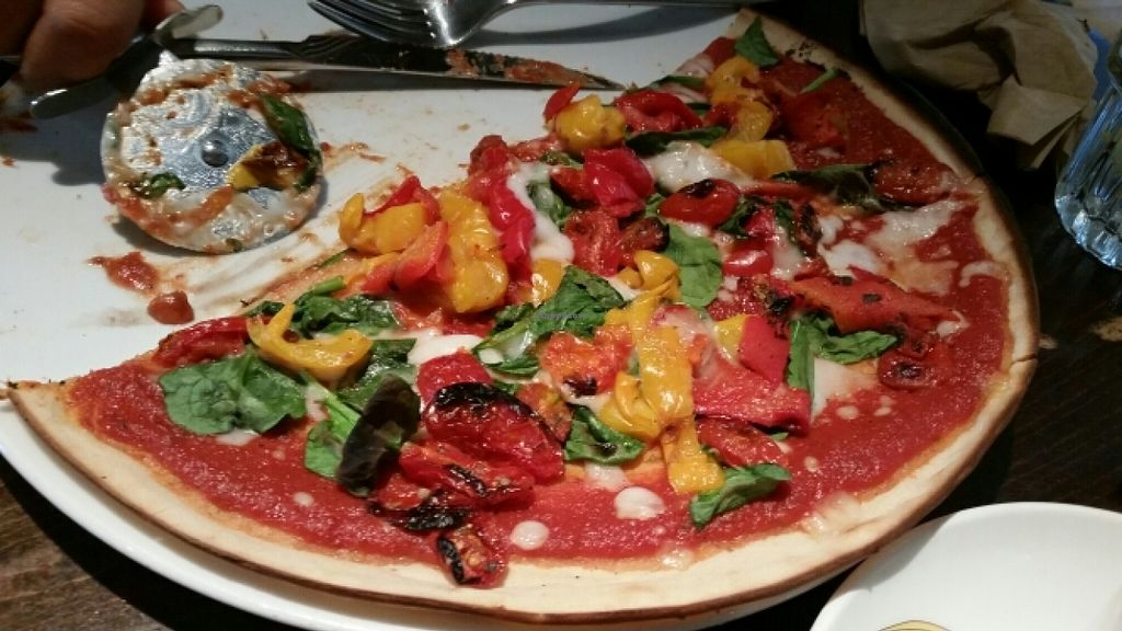 "Photo of Zizzi - High St  by <a href=""/members/profile/konlish"">konlish</a> <br/>Gluten free pizza with  bell pepper, spinach and balsamic tomatoes <br/> March 23, 2016  - <a href='/contact/abuse/image/71288/141034'>Report</a>"