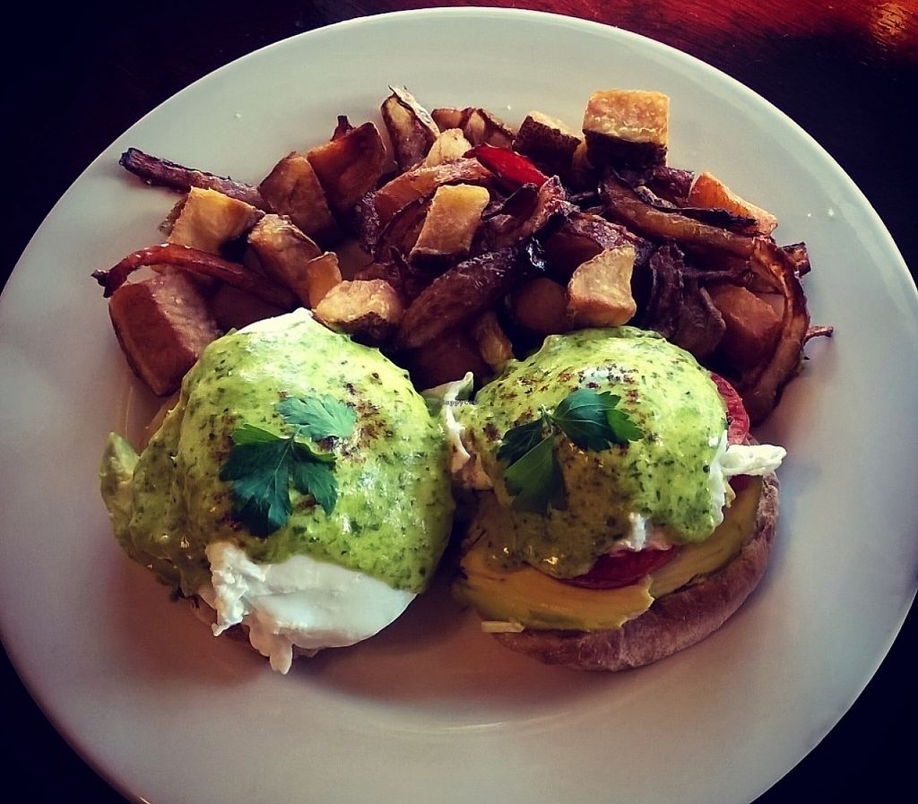 "Photo of CLOSED: Casie's Cafe  by <a href=""/members/profile/LukeG.89"">LukeG.89</a> <br/>Eggs Benedict with grilled tomato, avocado and herbed hollandaise! <br/> March 30, 2016  - <a href='/contact/abuse/image/71291/219451'>Report</a>"