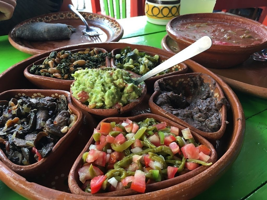 "Photo of Yeikame  by <a href=""/members/profile/VeganPike"">VeganPike</a> <br/>This is the vegetarian Mexican Plate. $175MXN as of April 2017 <br/> April 1, 2017  - <a href='/contact/abuse/image/71293/243176'>Report</a>"