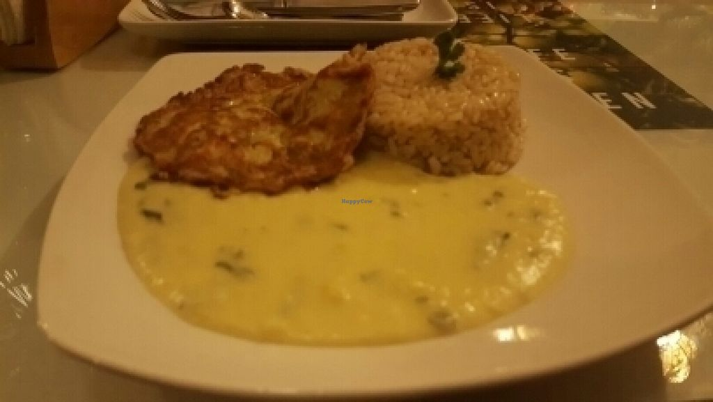 """Photo of CLOSED: La Casa Verde  by <a href=""""/members/profile/StephenGolden"""">StephenGolden</a> <br/>main course in the set menu was a mushroom omelette with rice <br/> July 16, 2016  - <a href='/contact/abuse/image/71299/160147'>Report</a>"""