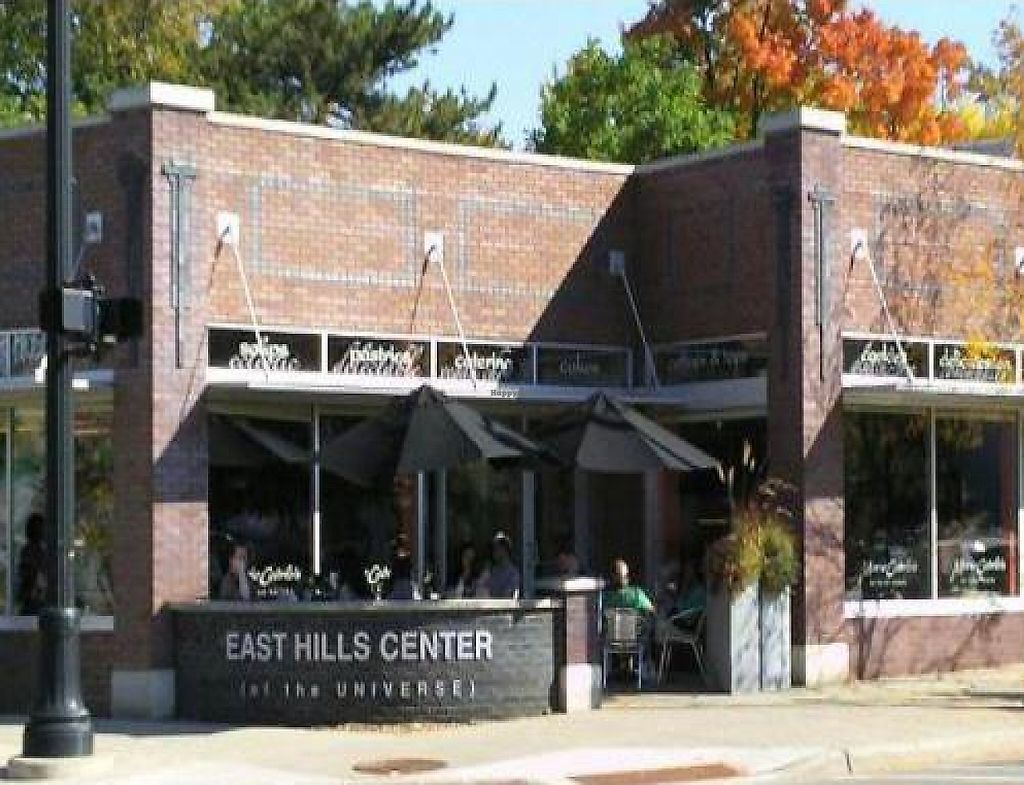 """Photo of Marie Catrib's  by <a href=""""/members/profile/happycowgirl"""">happycowgirl</a> <br/>storefront - parking and a rain garden behind building <br/> October 10, 2011  - <a href='/contact/abuse/image/7129/192029'>Report</a>"""