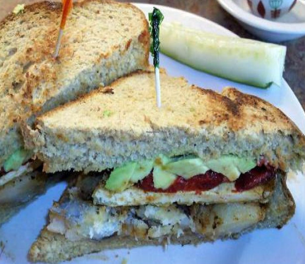 """Photo of Marie Catrib's  by <a href=""""/members/profile/happycowgirl"""">happycowgirl</a> <br/>'The Handyman' vegan sandwich <br/> October 10, 2011  - <a href='/contact/abuse/image/7129/204493'>Report</a>"""