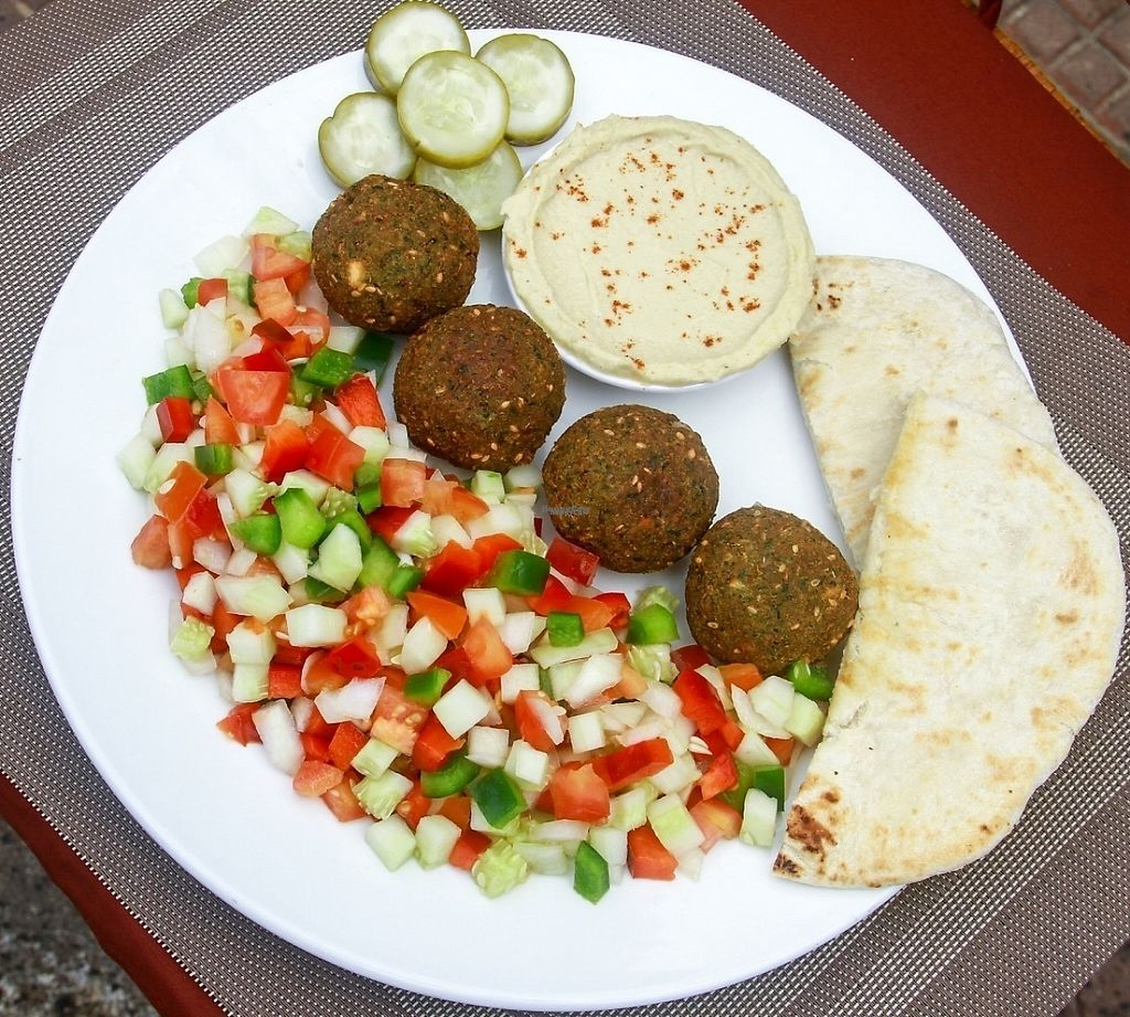 """Photo of CLOSED: Falafel Sihanoukville  by <a href=""""/members/profile/AlexanderYelenchuk"""">AlexanderYelenchuk</a> <br/>Falafel salad  Big salad with falafels, hummus and pita  <br/> March 9, 2017  - <a href='/contact/abuse/image/71312/234530'>Report</a>"""