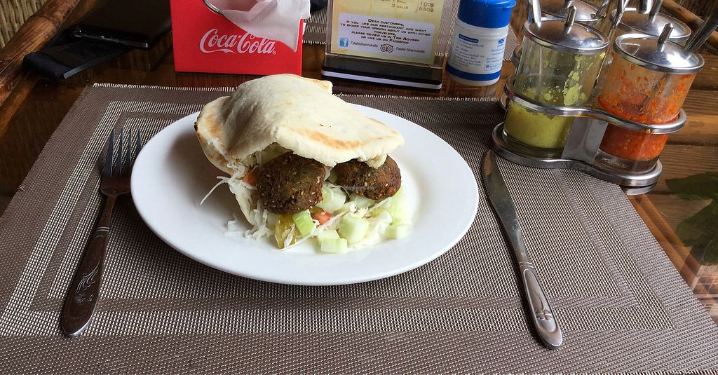 """Photo of CLOSED: Falafel Sihanoukville  by <a href=""""/members/profile/Mike%20Munsie"""">Mike Munsie</a> <br/>falafel sandwich <br/> September 11, 2017  - <a href='/contact/abuse/image/71312/303217'>Report</a>"""