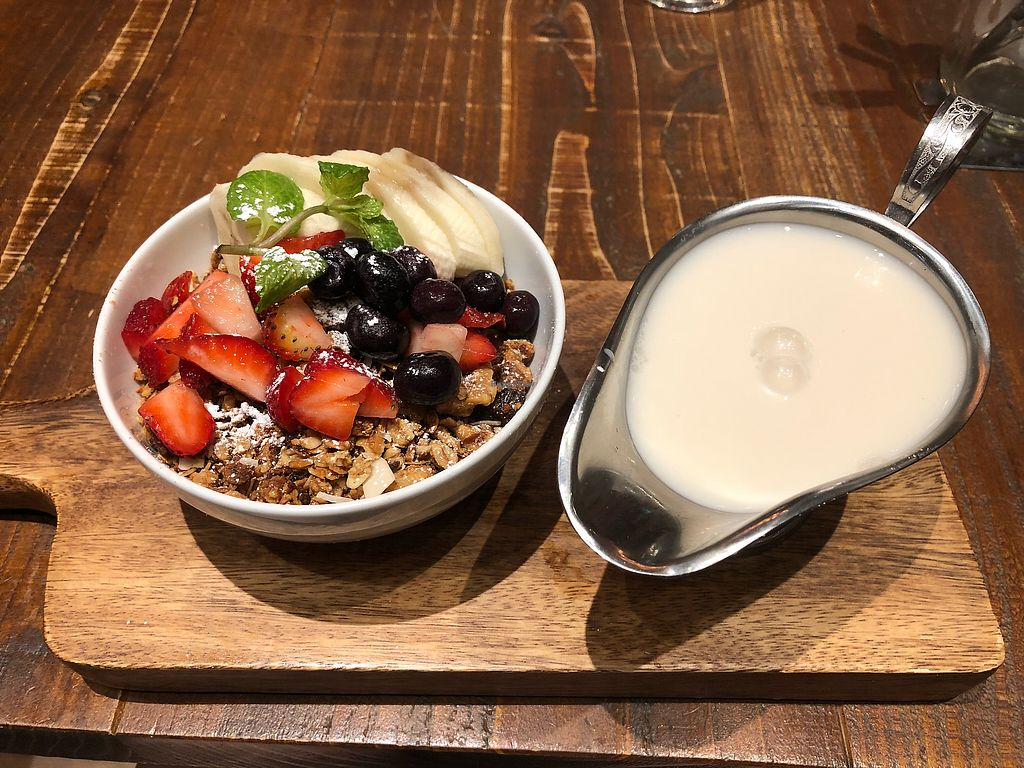 """Photo of Blu Jam Cafe  by <a href=""""/members/profile/carleigh8100"""">carleigh8100</a> <br/>Granola Bowl with substituted Almond Milk <br/> December 7, 2017  - <a href='/contact/abuse/image/71326/332991'>Report</a>"""