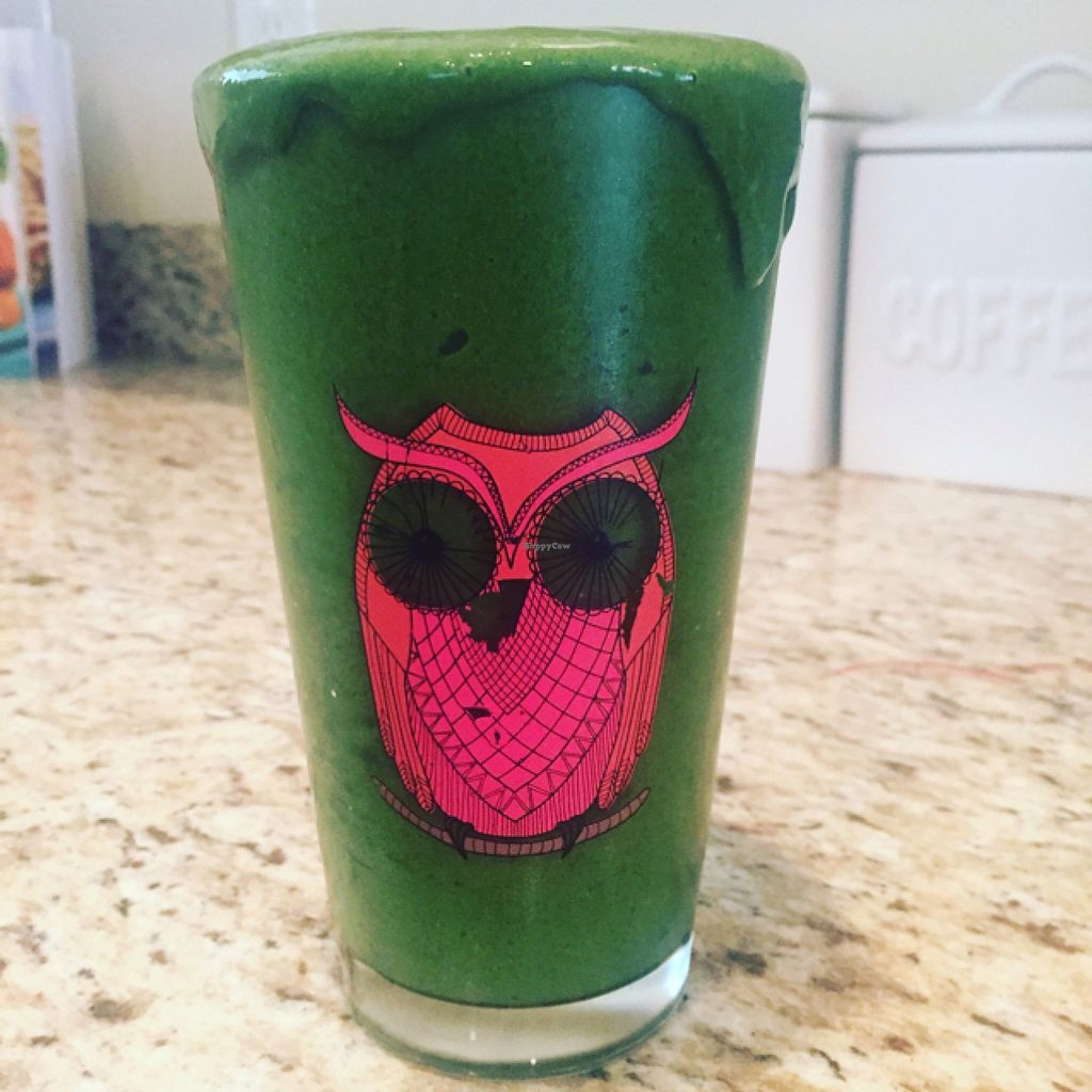 """Photo of The Juice Hive   by <a href=""""/members/profile/mfmonroe04"""">mfmonroe04</a> <br/>Green Gems Smoothie  <br/> March 24, 2016  - <a href='/contact/abuse/image/71331/141171'>Report</a>"""