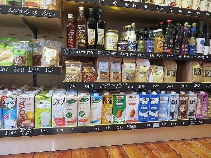 """Photo of Haworth Wholefoods  by <a href=""""/members/profile/HaworthWholefoods"""">HaworthWholefoods</a> <br/>Some of the stock at Haworth Wholefoods - lots of plant milks <br/> June 28, 2017  - <a href='/contact/abuse/image/71351/274508'>Report</a>"""