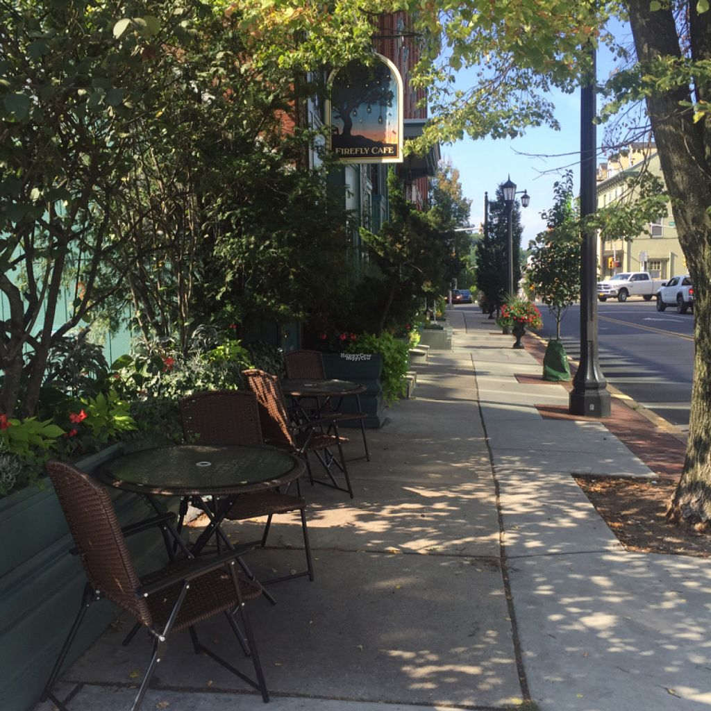 "Photo of Firefly Cafe and Outpost  by <a href=""/members/profile/Fireflycafe"">Fireflycafe</a> <br/>Outdoor seating <br/> August 12, 2016  - <a href='/contact/abuse/image/71396/167917'>Report</a>"