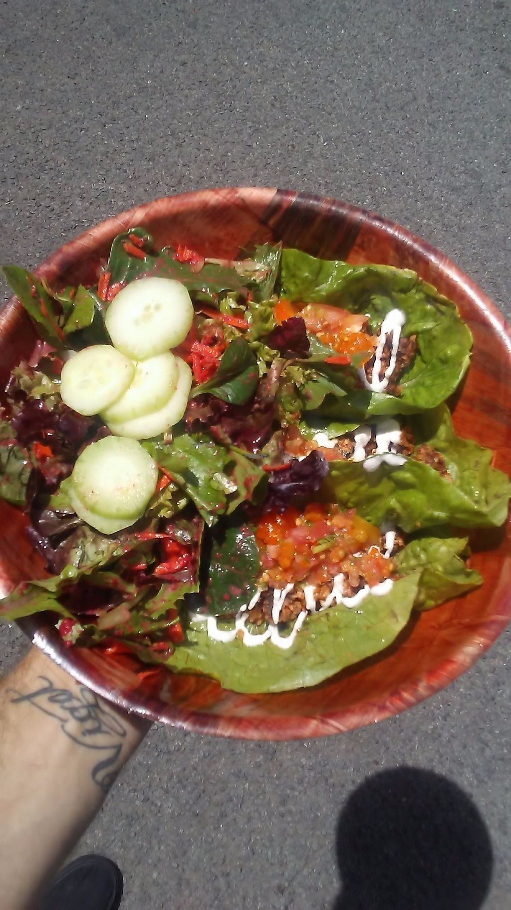 "Photo of Mama T's Ital Kitchen - Umeke Market  by <a href=""/members/profile/DallasMcCulloch"">DallasMcCulloch</a> <br/>Raw tacos! <br/> March 23, 2017  - <a href='/contact/abuse/image/71398/239691'>Report</a>"