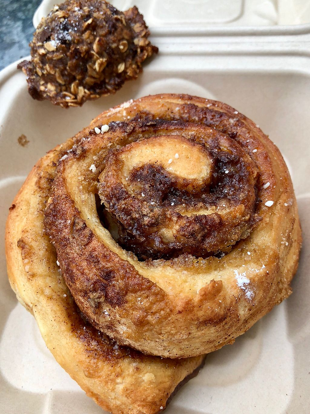 "Photo of Mama T's Ital Kitchen - Umeke Market  by <a href=""/members/profile/lvashon"">lvashon</a> <br/>Massive cinnamon bun and chocolate oat cake! ❤️ <br/> April 19, 2018  - <a href='/contact/abuse/image/71398/388304'>Report</a>"