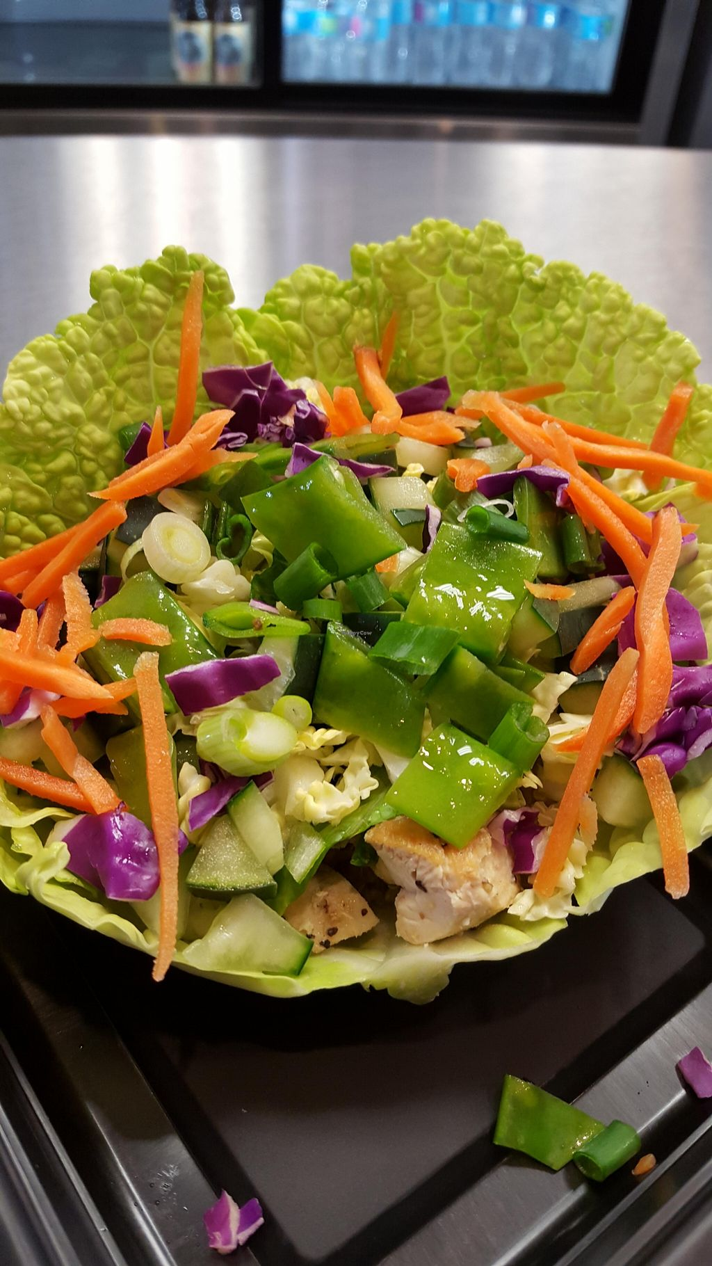 "Photo of Quarks American Bento  by <a href=""/members/profile/KimV"">KimV</a> <br/>This cabbage wrap had all the fresh veggies I could desire,  brown rice, and chicken.  Yummy!  <br/> March 26, 2016  - <a href='/contact/abuse/image/71399/141395'>Report</a>"