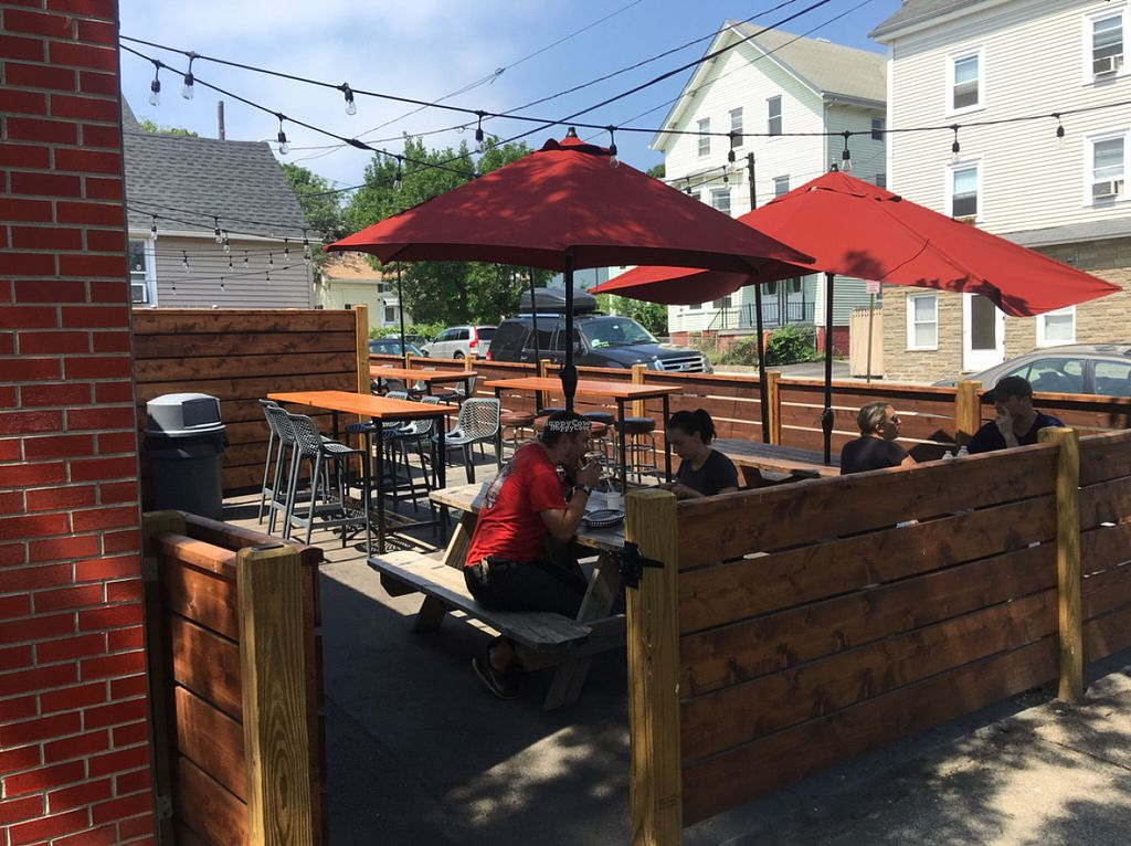 """Photo of Tallulah's Taqueria  by <a href=""""/members/profile/Stacie99"""">Stacie99</a> <br/>outdoor seating on both sides of building  <br/> August 13, 2016  - <a href='/contact/abuse/image/71413/168310'>Report</a>"""