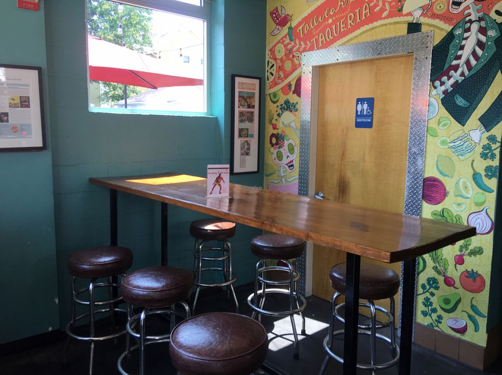 """Photo of Tallulah's Taqueria  by <a href=""""/members/profile/Stacie99"""">Stacie99</a> <br/>very limited indoor seating <br/> August 13, 2016  - <a href='/contact/abuse/image/71413/168311'>Report</a>"""