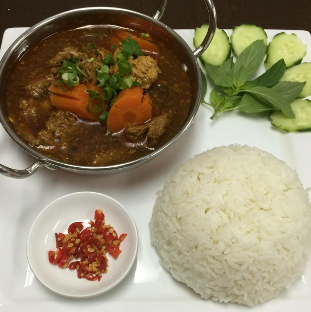 """Photo of Bahn Mi Cafe  by <a href=""""/members/profile/Tally"""">Tally</a> <br/>vegan mock 'beef' stew <br/> March 27, 2016  - <a href='/contact/abuse/image/71439/141530'>Report</a>"""