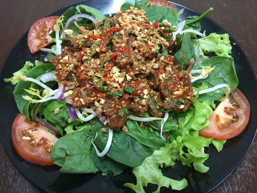 """Photo of Bahn Mi Cafe  by <a href=""""/members/profile/Tally"""">Tally</a> <br/>vegan mock 'beef' salad <br/> March 27, 2016  - <a href='/contact/abuse/image/71439/141531'>Report</a>"""