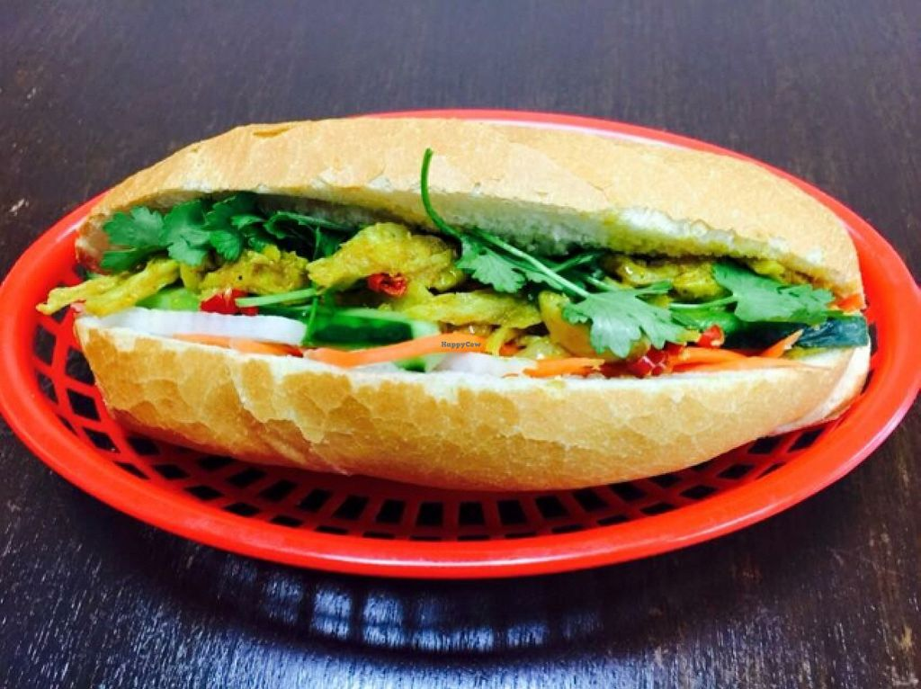 """Photo of Bahn Mi Cafe  by <a href=""""/members/profile/Tally"""">Tally</a> <br/>vegan mock 'chicken' lemongrass Banh mi roll  <br/> March 27, 2016  - <a href='/contact/abuse/image/71439/141533'>Report</a>"""
