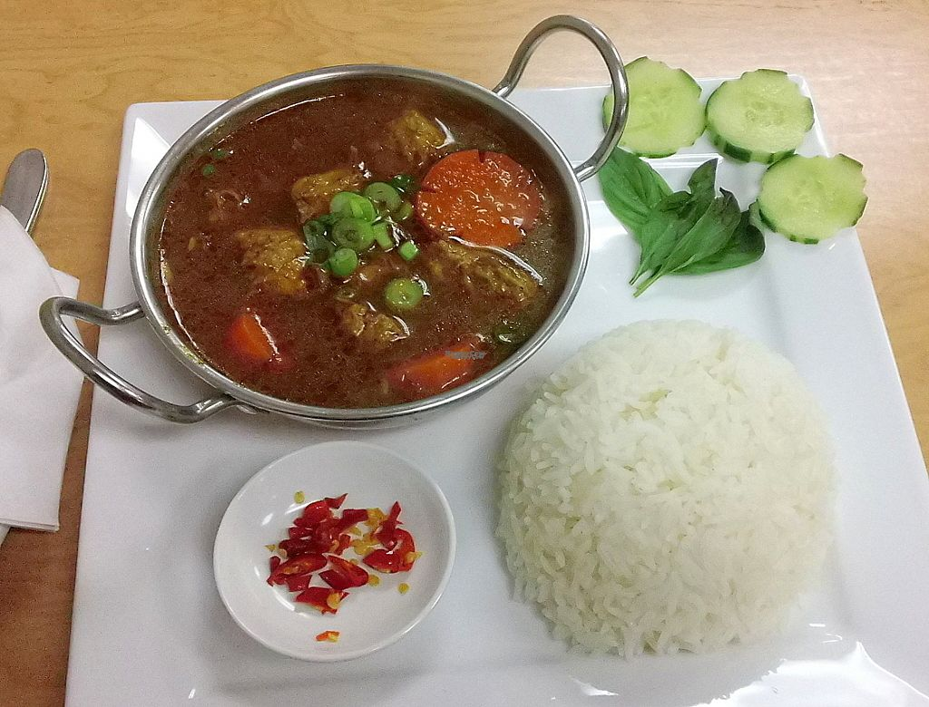 """Photo of Bahn Mi Cafe  by <a href=""""/members/profile/cvxmelody"""">cvxmelody</a> <br/>Mock beef stew <br/> January 5, 2017  - <a href='/contact/abuse/image/71439/208205'>Report</a>"""