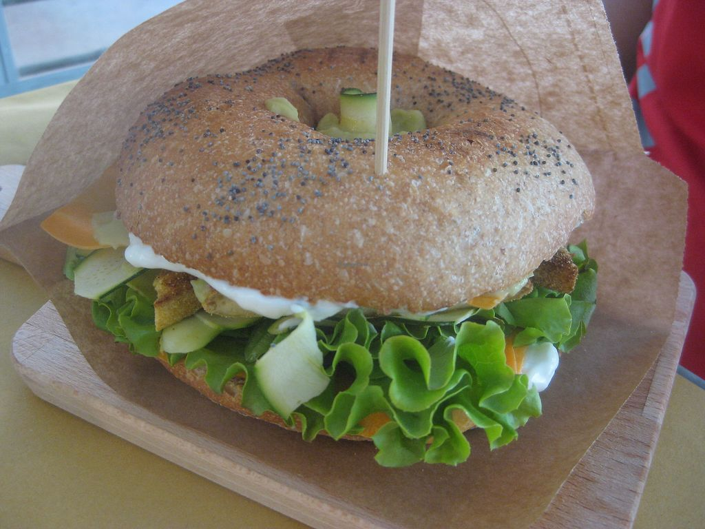 """Photo of Dulcamara Bio Vegan Bistrot  by <a href=""""/members/profile/jennyc32"""">jennyc32</a> <br/>Breaded tofu sandwich <br/> August 2, 2017  - <a href='/contact/abuse/image/71447/288003'>Report</a>"""