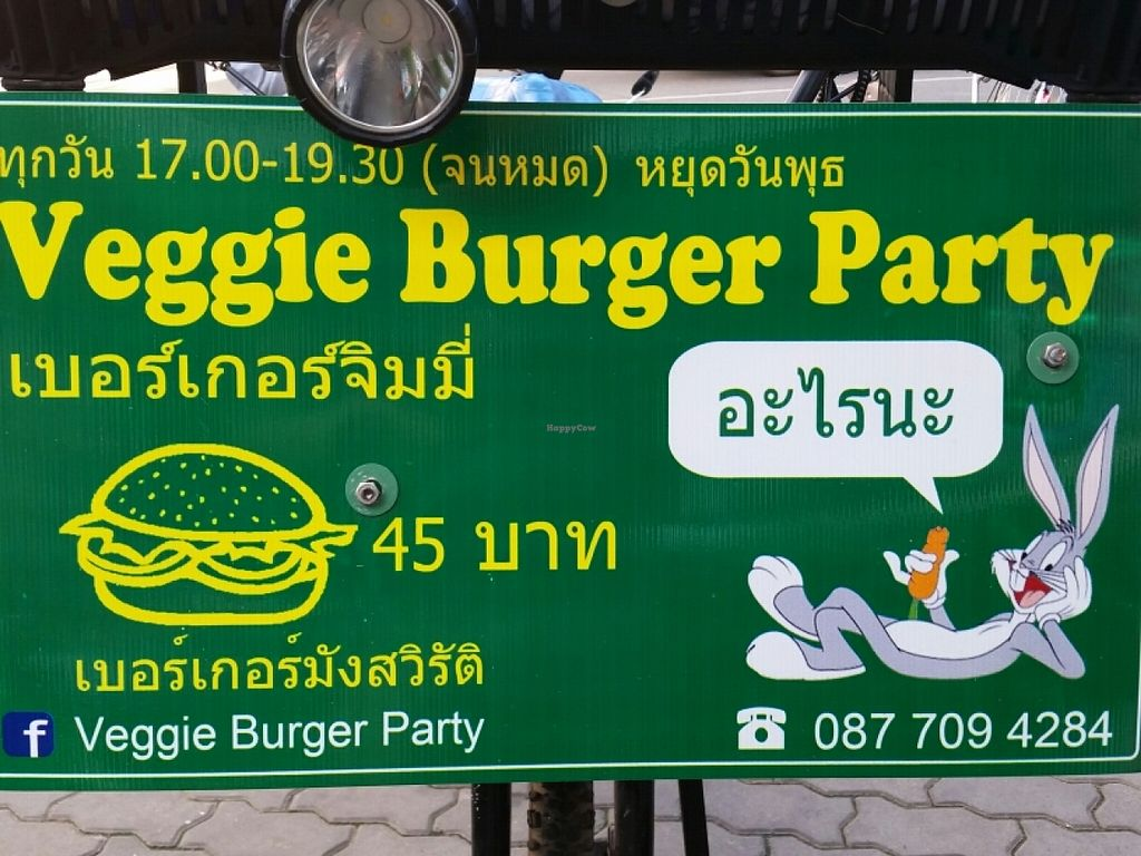 "Photo of Veggie Burger Party  by <a href=""/members/profile/eric"">eric</a> <br/>signage <br/> June 18, 2016  - <a href='/contact/abuse/image/71468/154590'>Report</a>"