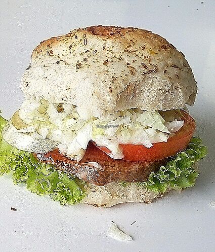 "Photo of Veggie Burger Party  by <a href=""/members/profile/herwin"">herwin</a> <br/>A delicious soyprotein burger topped with eggless mayo and chopped coleslaw is the favourite with our female customers. Available ""spicy"" and ""not spicy"".  <br/> August 14, 2017  - <a href='/contact/abuse/image/71468/292495'>Report</a>"
