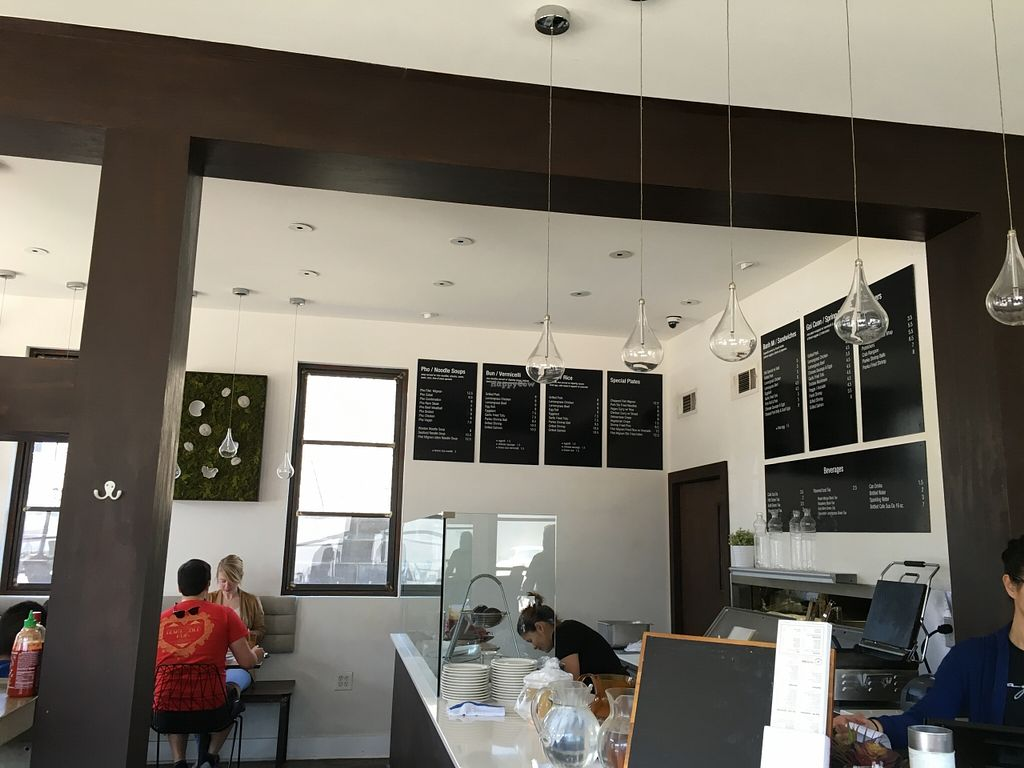 """Photo of Magasin  by <a href=""""/members/profile/cookiem"""">cookiem</a> <br/>Wall menu by counter where goi cuon are made <br/> March 31, 2016  - <a href='/contact/abuse/image/71490/142084'>Report</a>"""