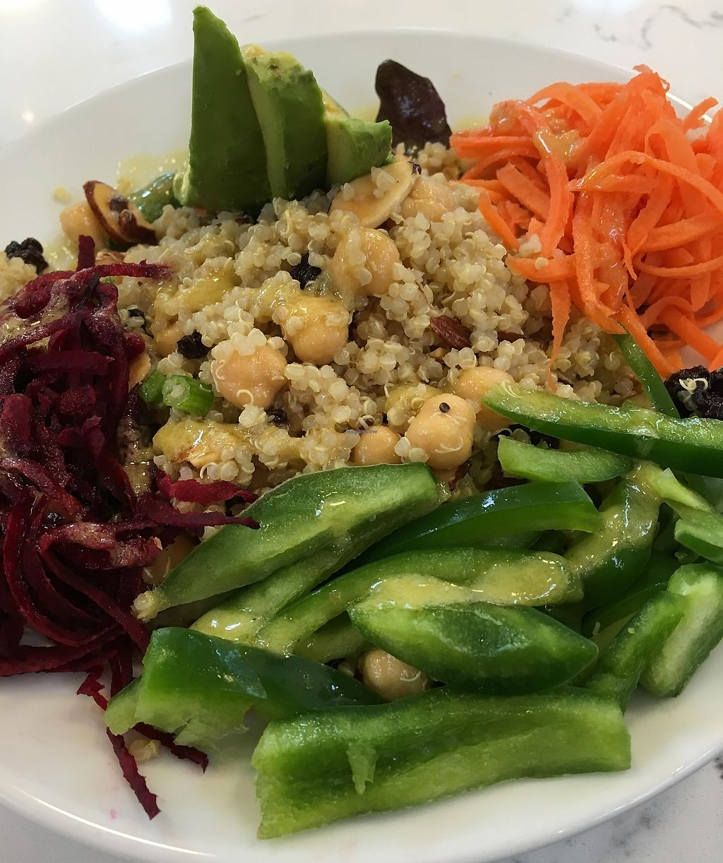 """Photo of Juice NOLA  by <a href=""""/members/profile/cookiem"""">cookiem</a> <br/>Quinoa salad- Rainbow Bowl <br/> March 31, 2016  - <a href='/contact/abuse/image/71493/201384'>Report</a>"""