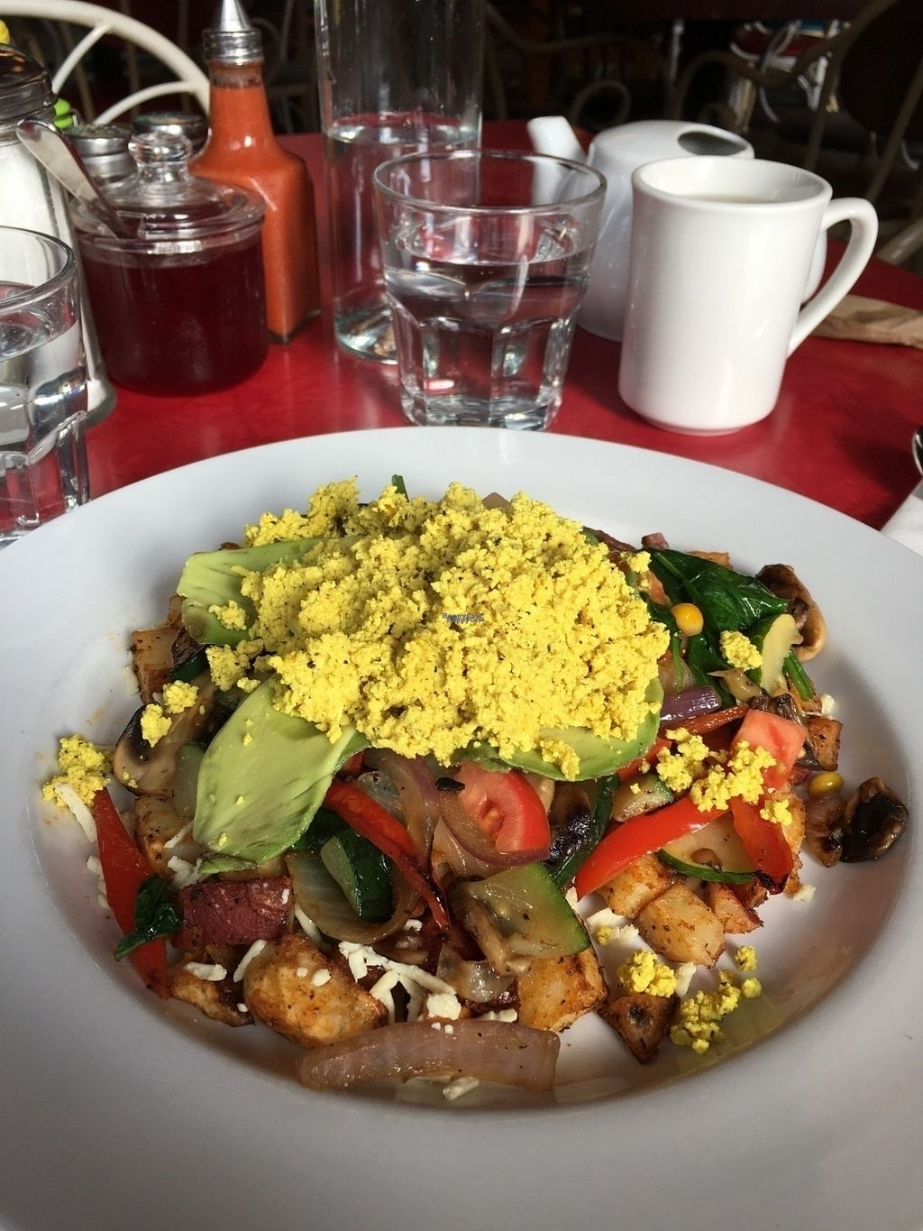 """Photo of The Gumboot Restaurant  by <a href=""""/members/profile/vegan%20frog"""">vegan frog</a> <br/>Tofu scramble <br/> October 22, 2016  - <a href='/contact/abuse/image/71500/183521'>Report</a>"""
