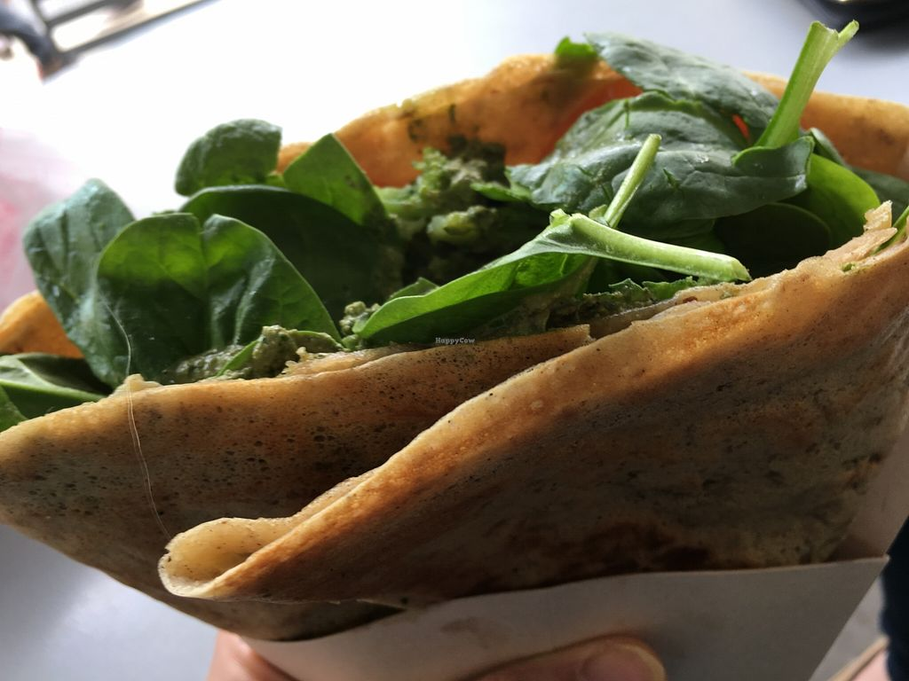 """Photo of The Crepe Cart  by <a href=""""/members/profile/cookiem"""">cookiem</a> <br/>Pesto- vegan gluten free! <br/> March 31, 2016  - <a href='/contact/abuse/image/71506/142071'>Report</a>"""