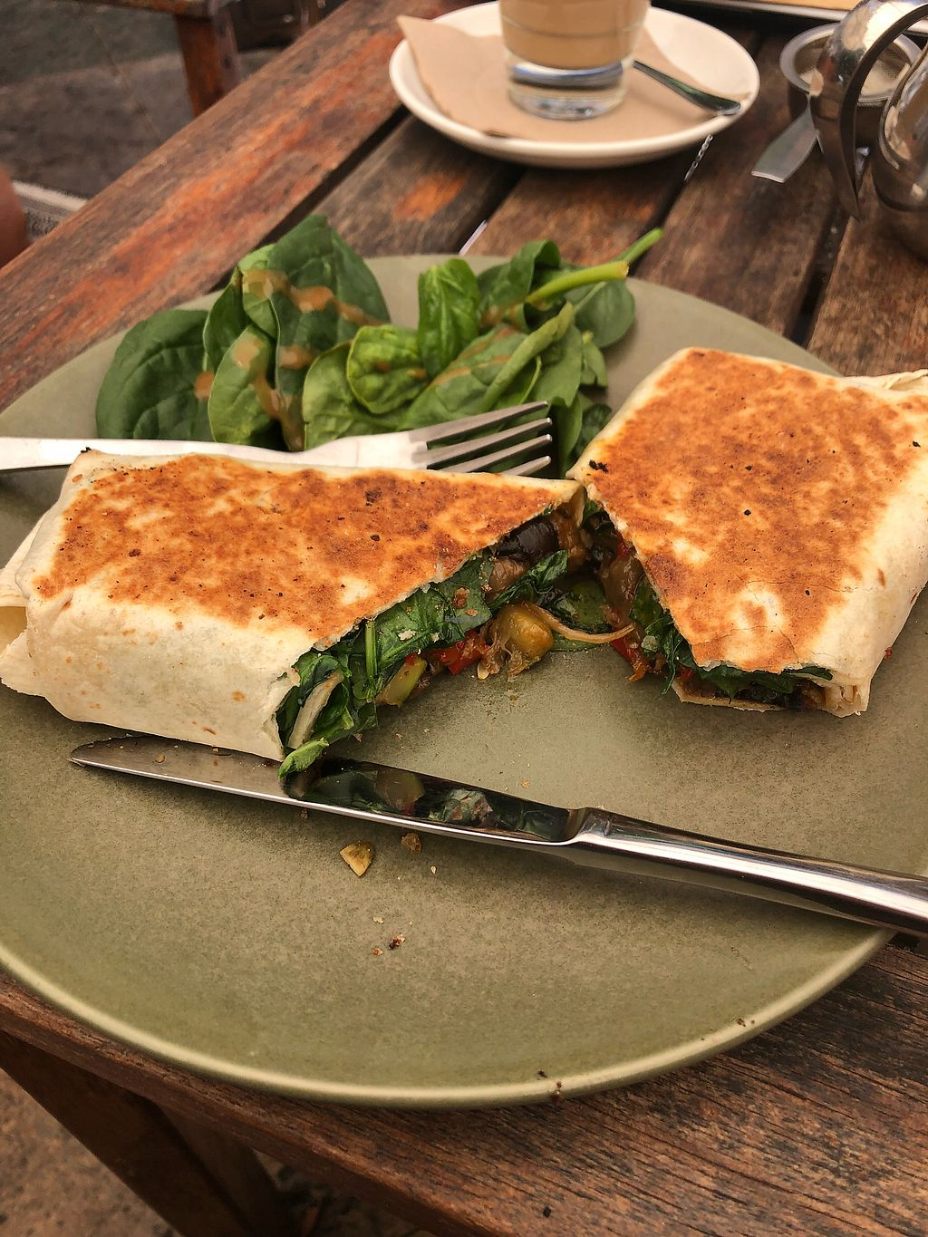 """Photo of Moore & Moore Cafe  by <a href=""""/members/profile/dfc44"""">dfc44</a> <br/> Vegan wrap <br/> December 7, 2017  - <a href='/contact/abuse/image/71517/333248'>Report</a>"""