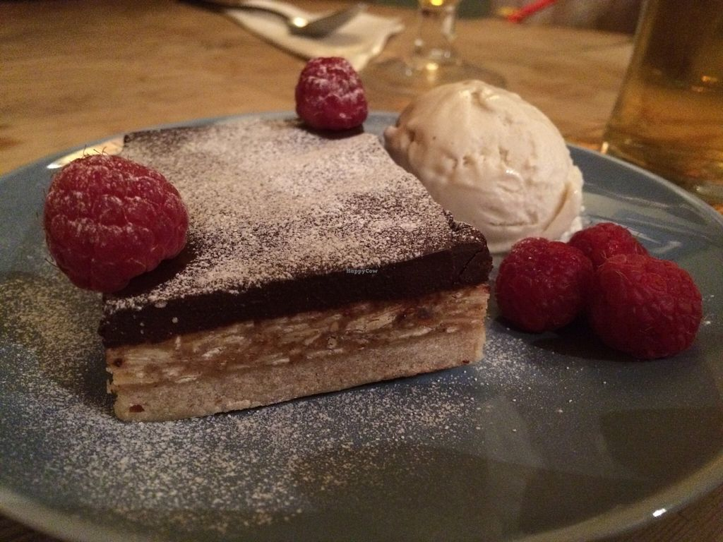 """Photo of Earth and Stars  by <a href=""""/members/profile/Kiwi%20Wannabe"""">Kiwi Wannabe</a> <br/>Millionaire shortbread with coconut, almonds served with a side of salted caramel and vanilla ice cream.  Our favorite of the night <br/> April 9, 2016  - <a href='/contact/abuse/image/71529/143539'>Report</a>"""