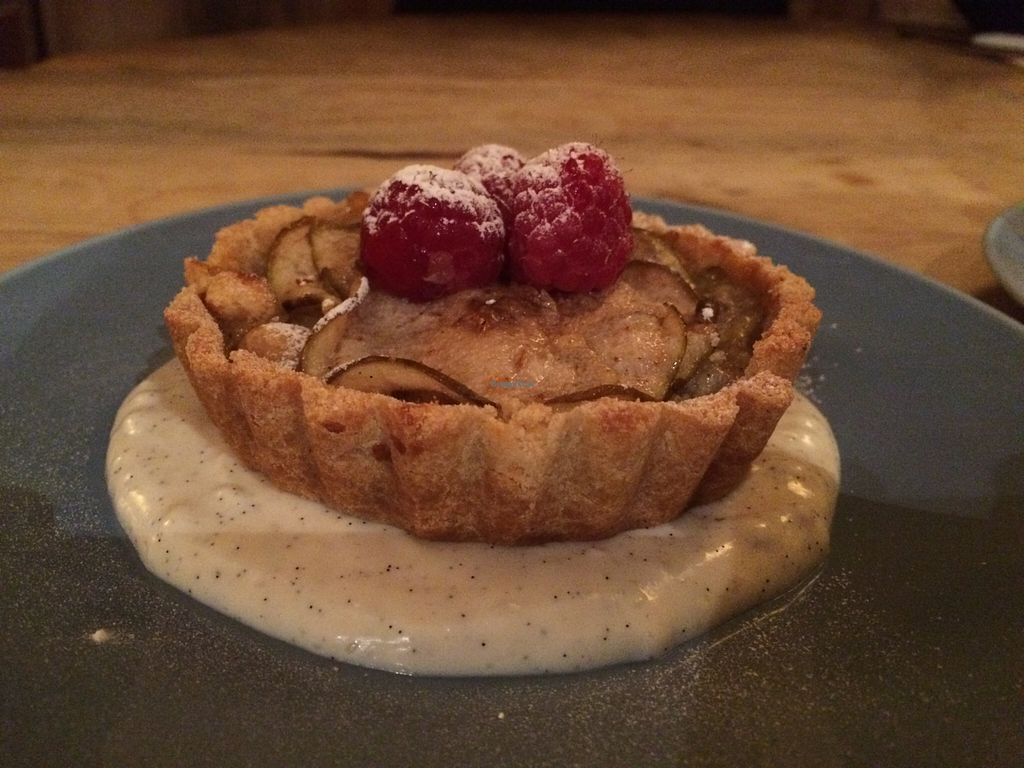 """Photo of Earth and Stars  by <a href=""""/members/profile/Kiwi%20Wannabe"""">Kiwi Wannabe</a> <br/>Pear and hazelnut tart with vanilla bean custard <br/> April 9, 2016  - <a href='/contact/abuse/image/71529/143540'>Report</a>"""