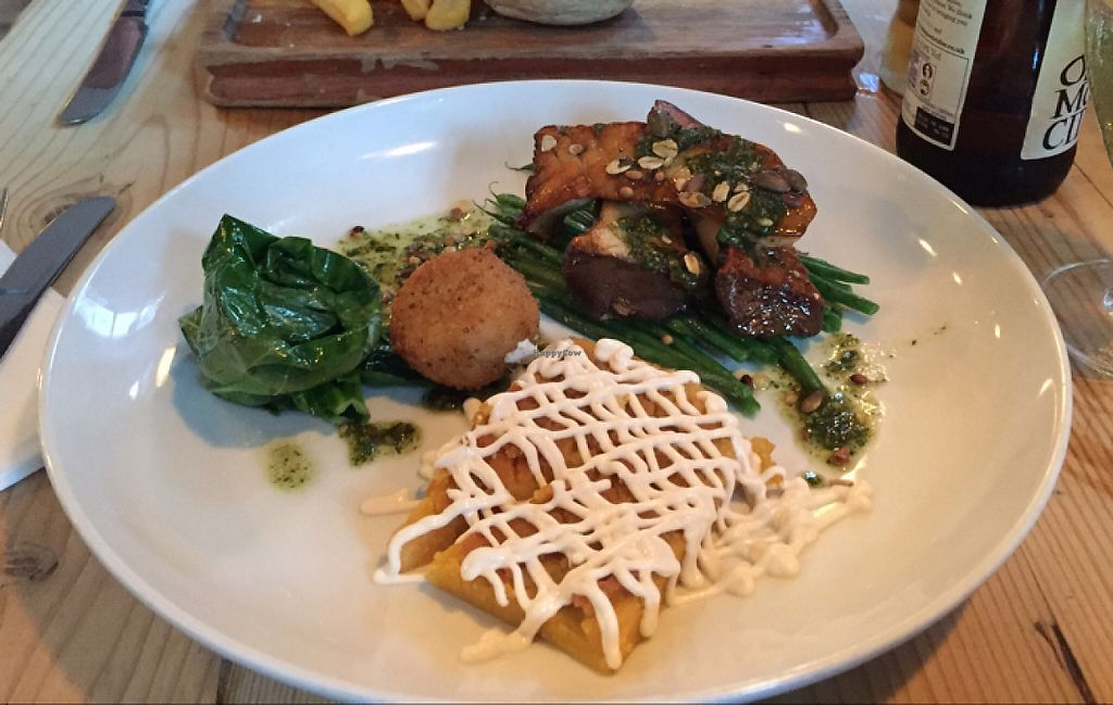 """Photo of Earth and Stars  by <a href=""""/members/profile/Walwitch"""">Walwitch</a> <br/>Oyster mushrooms, arancini, beans and polenta. Divine! <br/> May 24, 2017  - <a href='/contact/abuse/image/71529/262128'>Report</a>"""