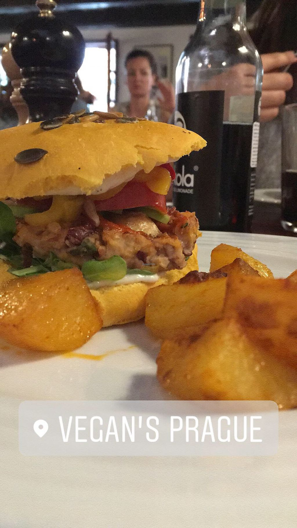 "Photo of Vegan's Prague  by <a href=""/members/profile/briis_w0rld"">briis_w0rld</a> <br/>Daily offer: Monkey burger  <br/> May 19, 2018  - <a href='/contact/abuse/image/71531/402062'>Report</a>"