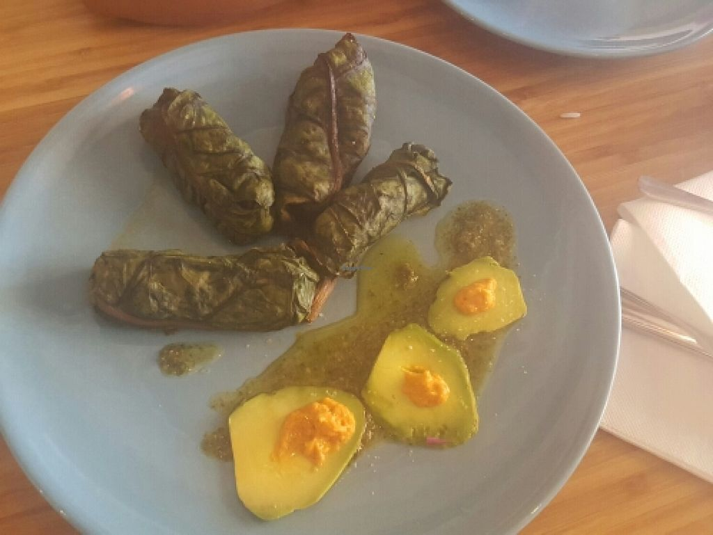 """Photo of Eco Eco  by <a href=""""/members/profile/nishakmatharu"""">nishakmatharu</a> <br/>chard leaves stuffed with tofu and vegetables <br/> March 30, 2016  - <a href='/contact/abuse/image/71532/141903'>Report</a>"""