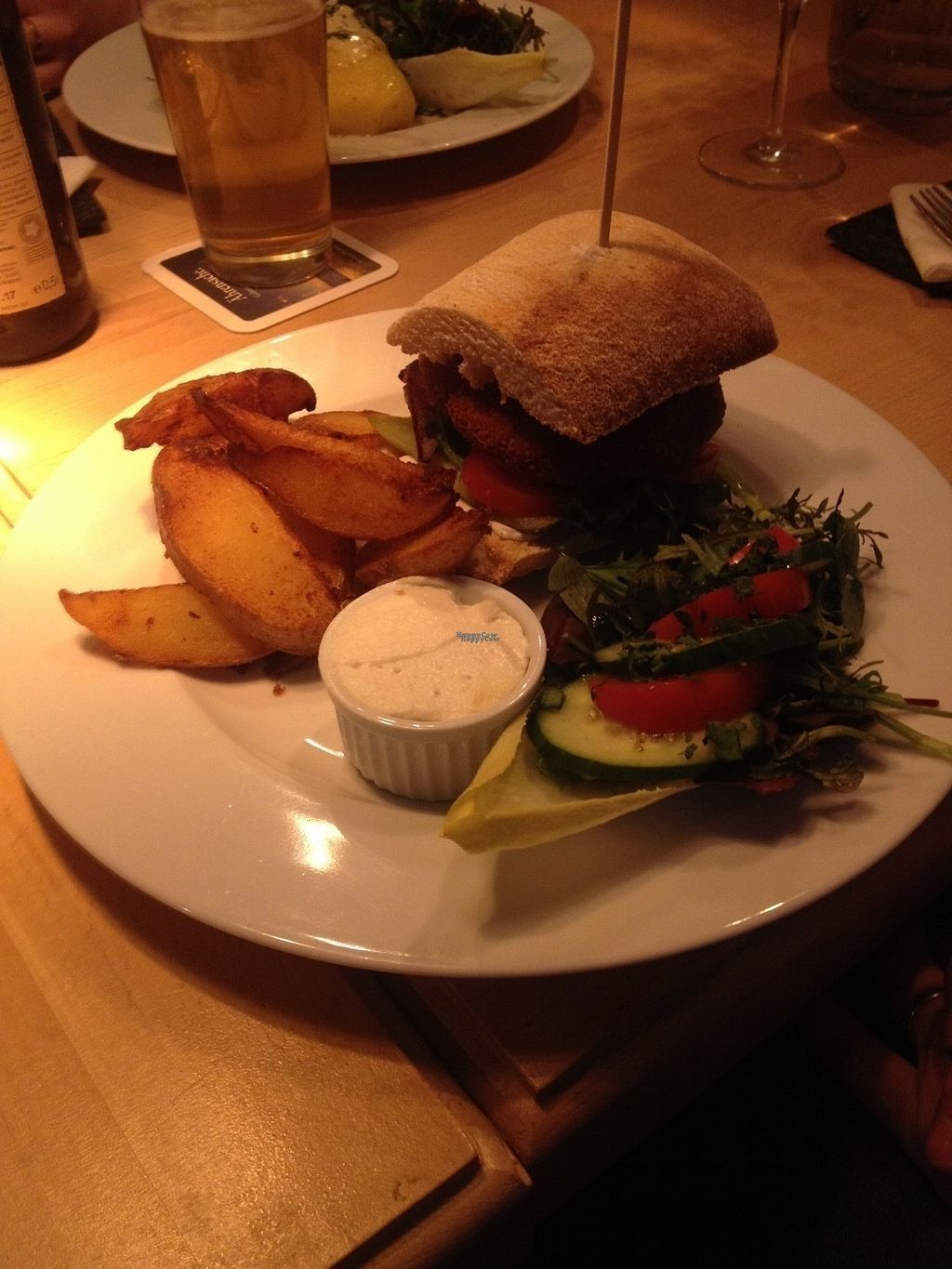 "Photo of Steffenhagen  by <a href=""/members/profile/o0Carolyn0o"">o0Carolyn0o</a> <br/>Special of the week: a beet burger with potato wedges and really tasty aioli. I stole a bite and it was yummy! <br/> October 4, 2016  - <a href='/contact/abuse/image/71550/179701'>Report</a>"