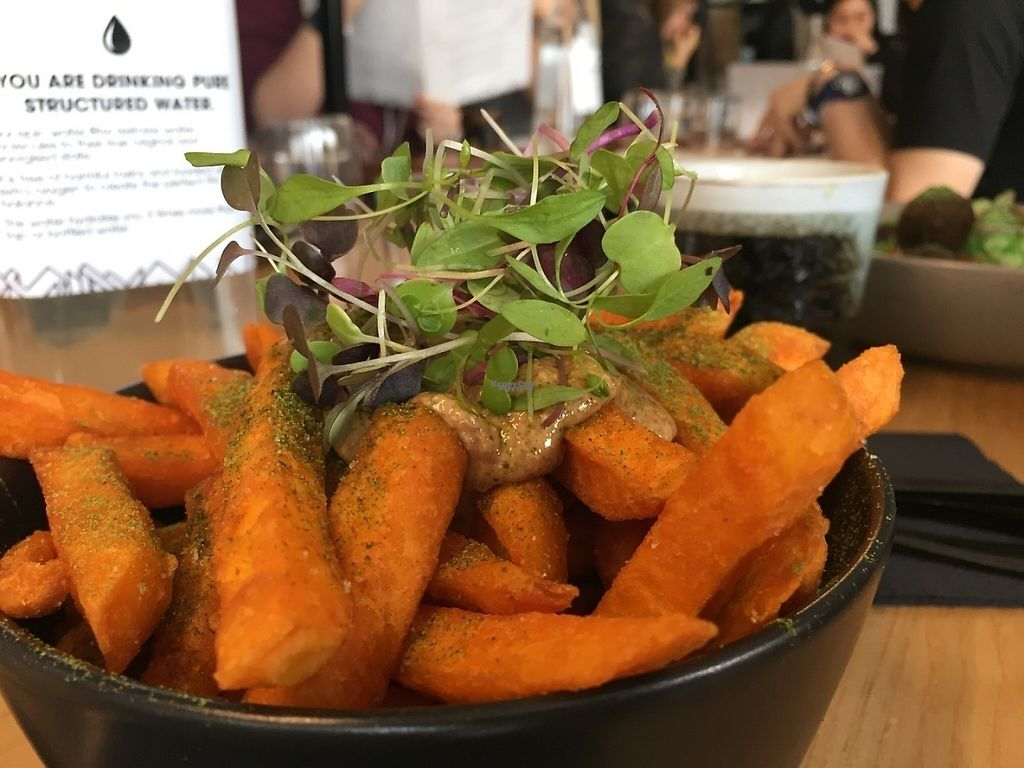 """Photo of Matcha Mylkbar  by <a href=""""/members/profile/karlaess"""">karlaess</a> <br/>Sweet potato fries with almond butter <br/> November 27, 2016  - <a href='/contact/abuse/image/71552/194973'>Report</a>"""