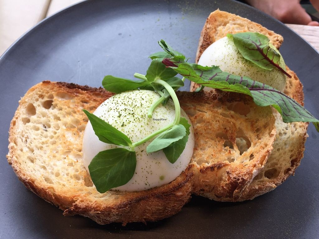 """Photo of Matcha Mylkbar  by <a href=""""/members/profile/Wuji_Luiji"""">Wuji_Luiji</a> <br/>Poached vegan eggs on sourdough toast <br/> January 26, 2018  - <a href='/contact/abuse/image/71552/350952'>Report</a>"""