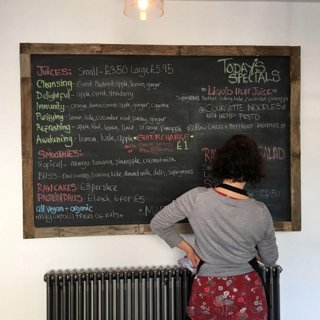 "Photo of Primrose Natural Foods and Juice Bar  by <a href=""/members/profile/Julietteskitchen"">Julietteskitchen</a> <br/>great vegan blackboard menu  <br/> March 30, 2016  - <a href='/contact/abuse/image/71582/141919'>Report</a>"