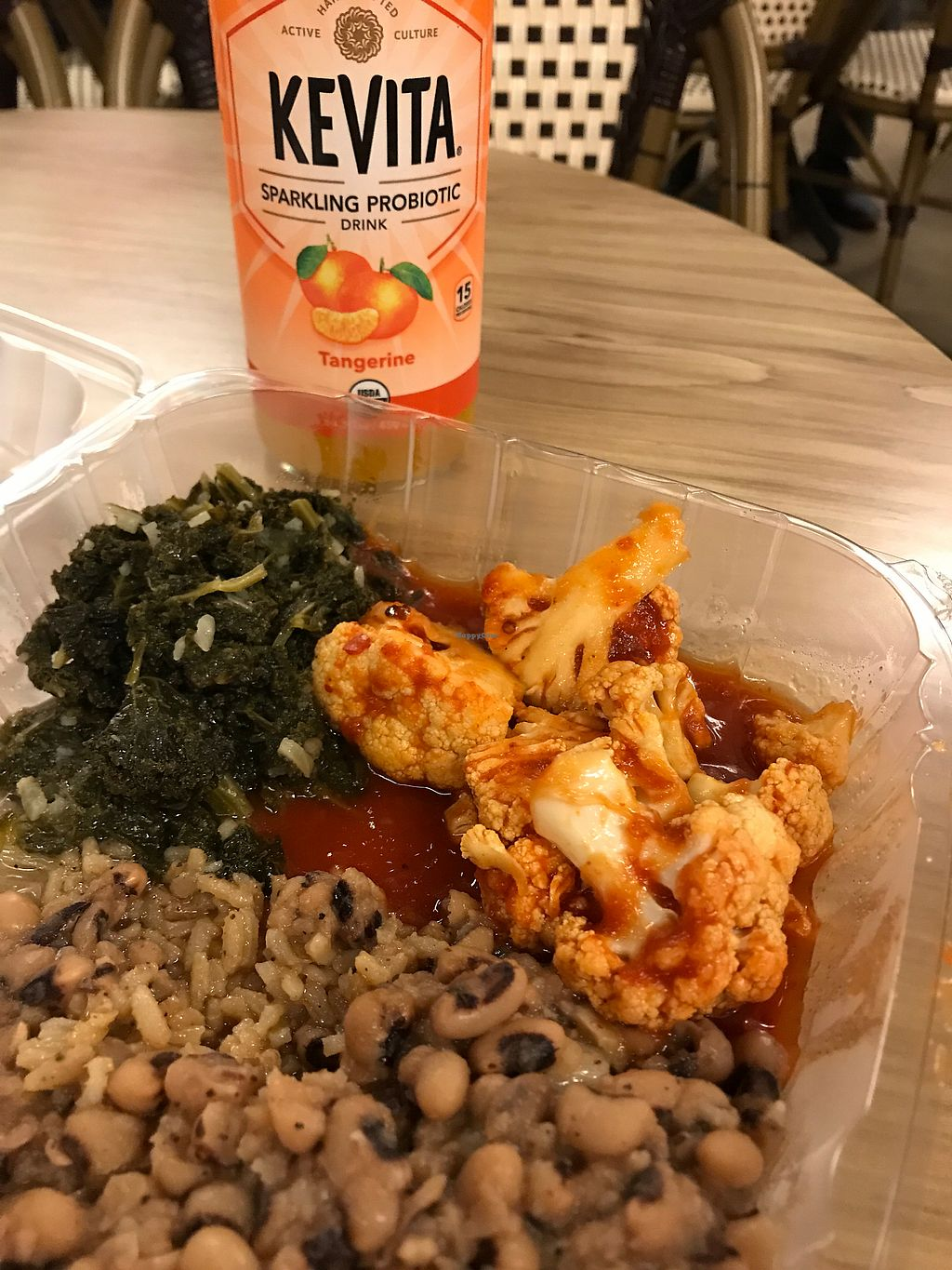 """Photo of Vegan Now  by <a href=""""/members/profile/TylerMayoras"""">TylerMayoras</a> <br/>Buffalo Cauliflower, with rice and beans! <br/> February 28, 2018  - <a href='/contact/abuse/image/71615/364955'>Report</a>"""