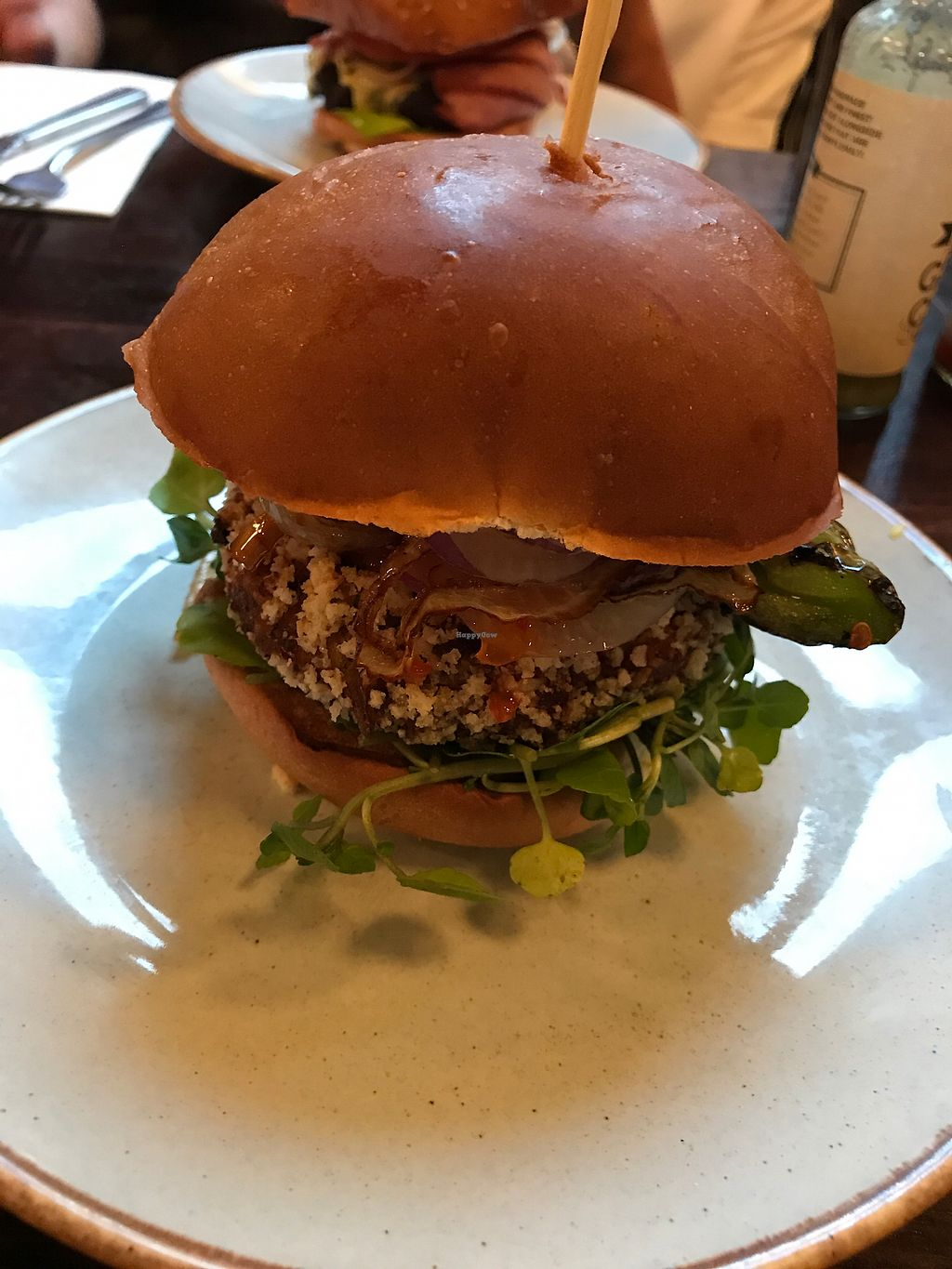"""Photo of Handmade Burger Co.  by <a href=""""/members/profile/PhilWheeler"""">PhilWheeler</a> <br/>Thai Vegan Burger ?? <br/> August 22, 2017  - <a href='/contact/abuse/image/71627/295905'>Report</a>"""