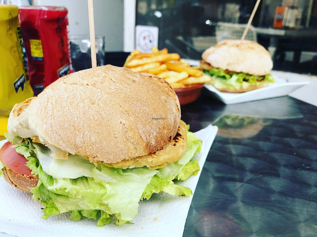 """Photo of El Soja  by <a href=""""/members/profile/LinaBrooks"""">LinaBrooks</a> <br/>chickpea burgers  <br/> August 26, 2017  - <a href='/contact/abuse/image/71657/297386'>Report</a>"""