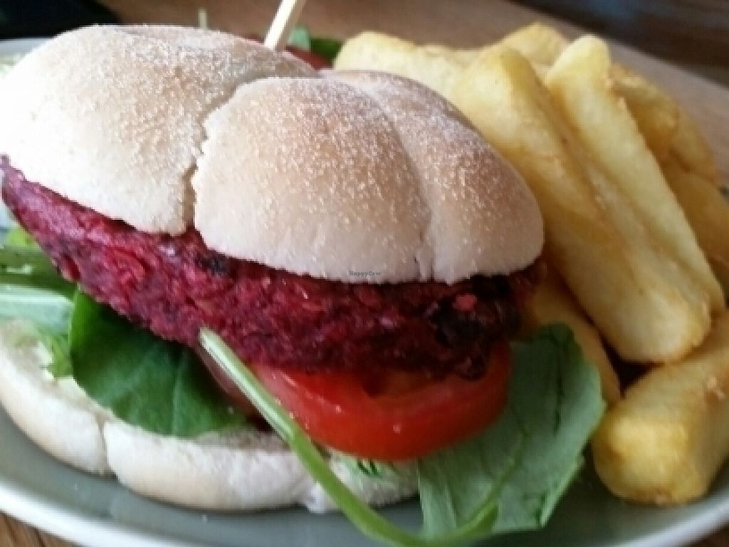 """Photo of CLOSED: Campbell's Canal Cafe  by <a href=""""/members/profile/eric"""">eric</a> <br/>vegan burger <br/> July 21, 2016  - <a href='/contact/abuse/image/71668/161397'>Report</a>"""