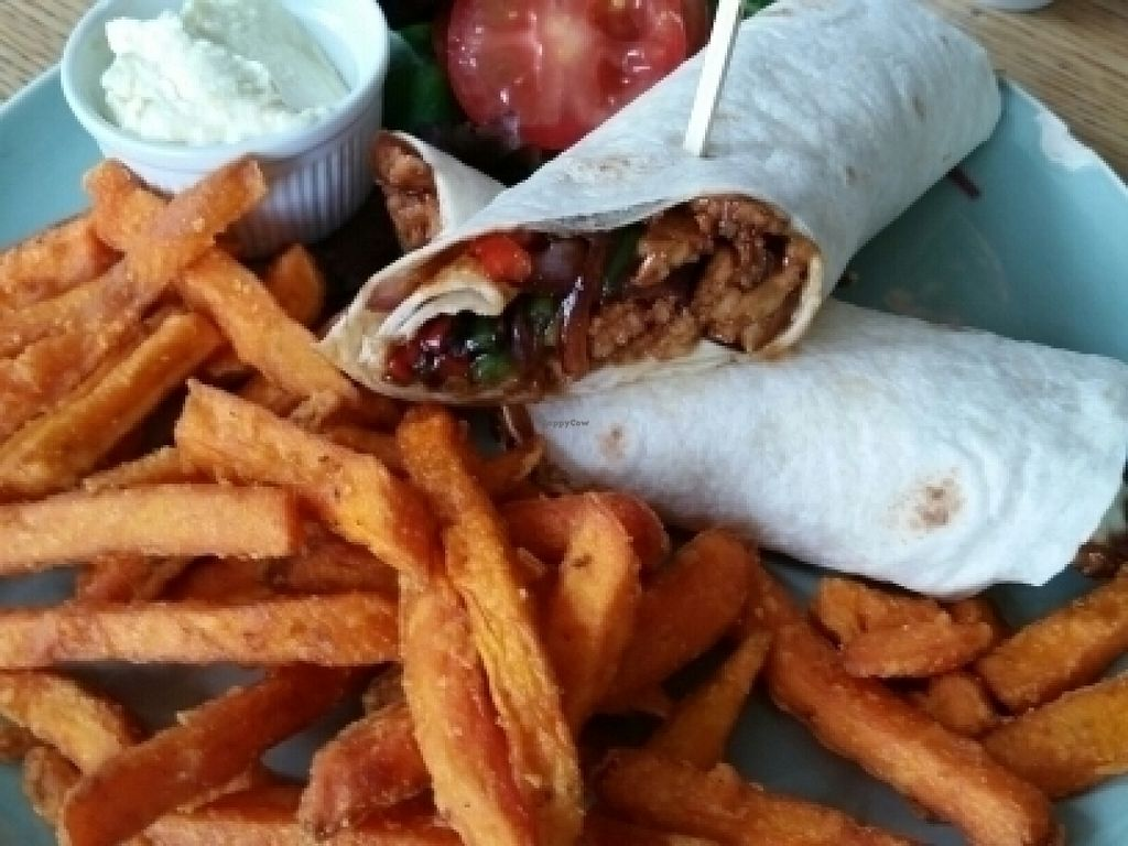 """Photo of CLOSED: Campbell's Canal Cafe  by <a href=""""/members/profile/eric"""">eric</a> <br/>special wrap and sweet potato wrap <br/> July 21, 2016  - <a href='/contact/abuse/image/71668/161398'>Report</a>"""