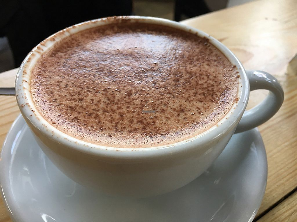 """Photo of CLOSED: Campbell's Canal Cafe  by <a href=""""/members/profile/Veg4Jay"""">Veg4Jay</a> <br/>Hemp Milk Mocha <br/> January 6, 2017  - <a href='/contact/abuse/image/71668/208633'>Report</a>"""