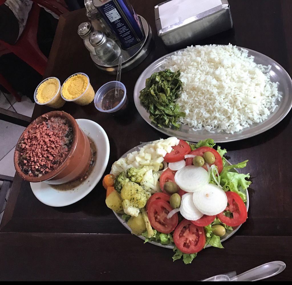 """Photo of Boteco do Gois  by <a href=""""/members/profile/Paolla"""">Paolla</a> <br/>Feijoada and salad <br/> March 2, 2017  - <a href='/contact/abuse/image/71679/231801'>Report</a>"""