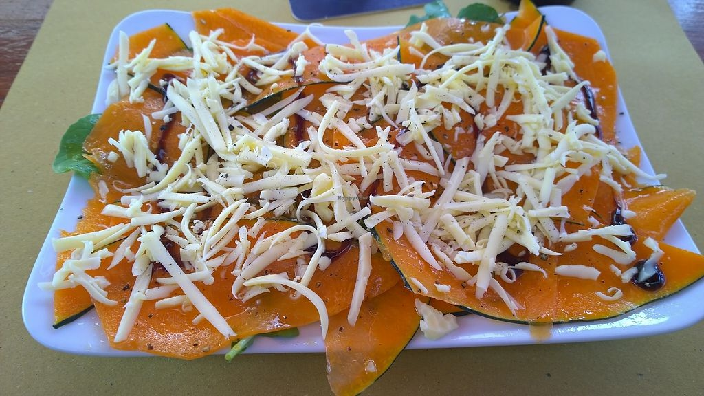 "Photo of Fuori di Zucca  by <a href=""/members/profile/Myria"">Myria</a> <br/>pumpkin with vegan cheese <br/> July 16, 2017  - <a href='/contact/abuse/image/71702/280888'>Report</a>"